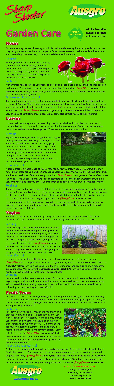 Sharp Shooter Ausgro Insect Killer Fungicide Garden Care